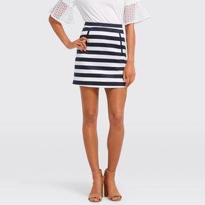 Draper James Striped Mini Skirt